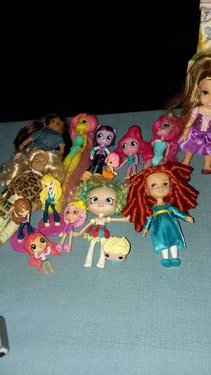 American girl shopkins dolls equestrian girls Disney brats & Disney frozen funko pop for Sale in Mesa, AZ