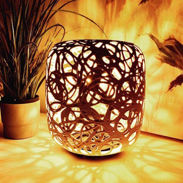 Handmade table lights from magma(vulcano lava)