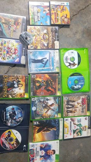 Nintendo DS xbox playstation 2 Xbox 360 GAMES for Sale in Denver, CO