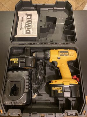 Dewalt 18v Drill, Two Batteries, Charger and Cass for Sale in Glendale, AZ