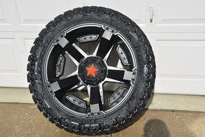 MATTE BLACK 24X12 XD ROCKSTAR Rims asking 2000$ for rims and tires They are practically new have five of them they came off of a jeep Rubicon for Sale in Tampa, FL