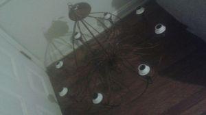 Modern brown 8 light chandelier for Sale in Atlanta, GA