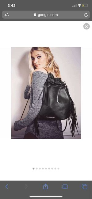 VICTORIA SECRET BLACK LEATHER BACKPACK for Sale in Salinas, CA