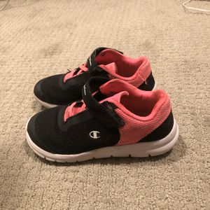 Champion Girls Sneakers, Size 12.5, Black for Sale in Seattle, WA