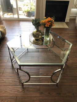 Furniture of America Talm Modern chrome Metal coffee table for Sale in Los Angeles,  CA