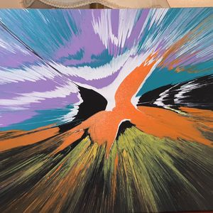 Spin Art 16x20 Canvas for Sale in Wendell, NC