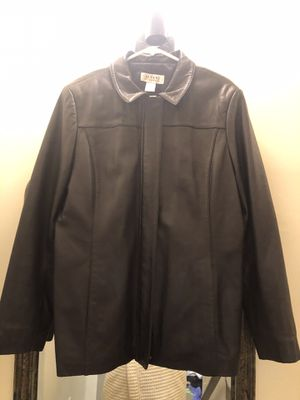 Leather jacket men's clothing XL coat 100 % leather for Sale in Alexandria, VA