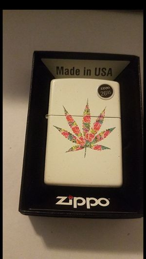 Zippo Lighter: Floral Weed Leaf for Sale in Whittier, CA