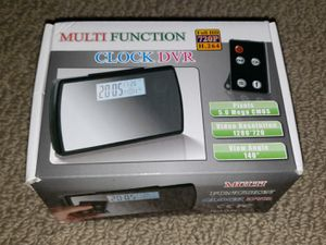 Alarm Clock & Motion Detection Hidden DVR with High Resolution (NEW) for Sale in Auburn, WA