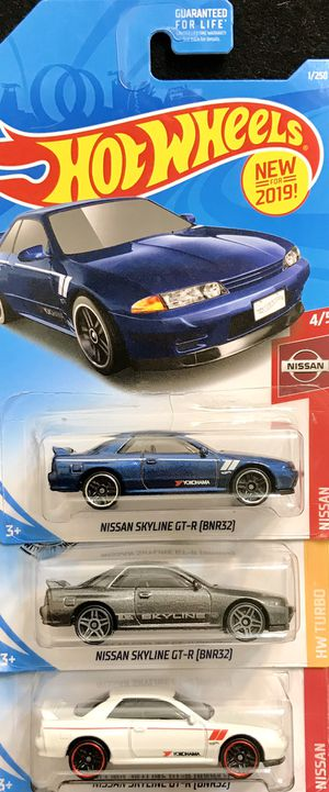 Hot Wheels NISSAN SKYLINE GT-R BNR32 Lot of 3 for $12 for Sale in La Mesa, CA