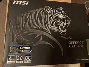 MSI GEFORCE GTX 970 BRAND NEW ORIGINAL PACKAGE NEVER OPENED for Sale in Modesto, CA