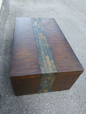 Used wood stone coffee table for Sale in Nashville, TN