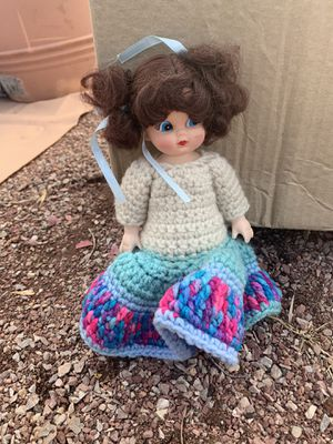 Antique porcelain doll in knitted dress for Sale in Colorado Springs, CO