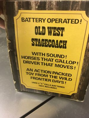 Vintage Wild West Stage Coach Battery Operated Toy Collection for Sale in El Paso, TX