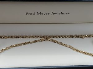 Real Gold Rope Necklace for Sale in Auburn, WA