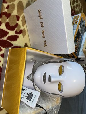 7 Color LED Photon Therapy Skin Rejuvenation Face & Neck Beauty Mask PDT Machine for Sale in Rex, GA