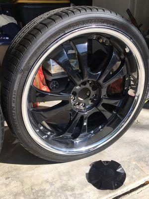 20 inch black rims for Sale in Murrieta, CA