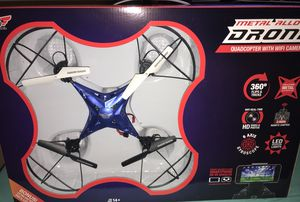 Sky Rider Metal Alloy Drone Quadcopter with WIFI Camaraderie for Sale in Durham, NC