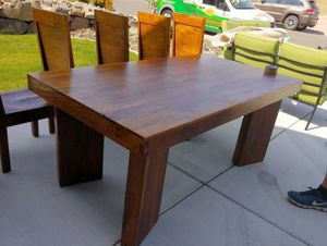Dining set (table, 6 chairs, buffet) for Sale in Ravensdale, WA