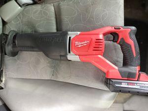 Milwaukee sawzall reciprocating saw M18 for Sale in Menasha, WI