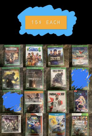 XBOX ONE/XBOX 360/WII U/WII/NINTENDOSWITCH/NINTENDO 3DS GAMES for Sale in Chicago, IL