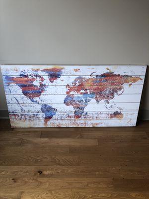 World Map - Modern Wall Art - Wood for Sale in Mercer Island, WA