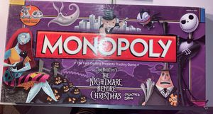 Monopoly Tim Burton's The Nightmare Before Christmas by Hasbro ~Read Description Only 4 tokens $24. for Sale in Elgin, IL