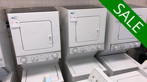 NO CREDIT!! Whirlpool Stackable Washer Electric Dryer Set 220v #1535 for Sale in Fort Washington, MD