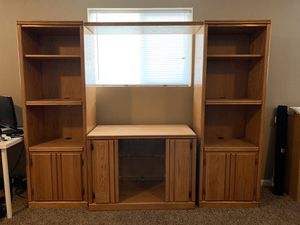 Oak wood entertainment center for Sale in Aurora, CO