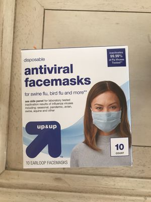 New Target Anti-Viral Face Mask Up & Up 10ct International Shipping! for Sale in Worcester, MA