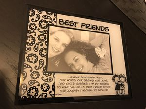 Glass Photo Frame (Best Friends) for Sale in Clarksburg, MD