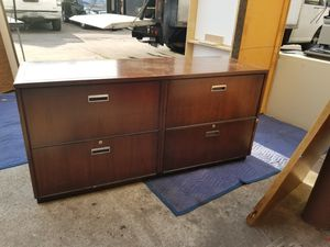 Stow davis 4 drawer lateral file cabinet $175 (good condition) for Sale in Houston, TX