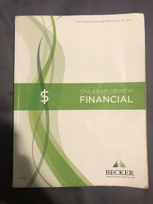 Becker CPA exam review Financial FAR textbook for Sale in Sunrise, FL