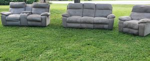 Used 3 PC reclining sofa set with ottoman for Sale in Nashville, TN