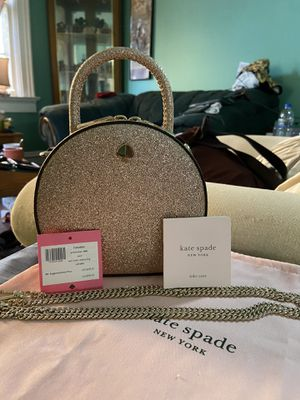 Kate spade shimmery handbag/purse with chain for Sale in Milwaukee, WI
