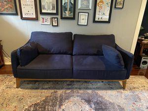 "Dark blue 78"" sofa mid century modern for Sale in Fullerton, CA"