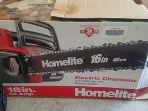 Brand new Homelite 16in 12amp Electric chain saw for Sale in Douglasville, GA