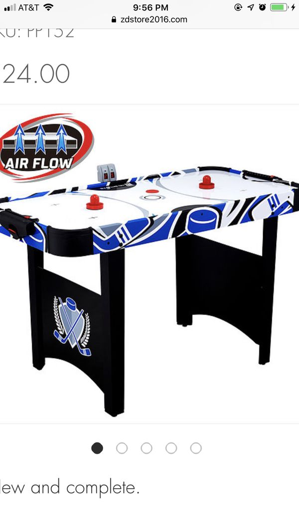 MD Sports 48 Inch Air Powered Hockey Table with LED scorer Accessories