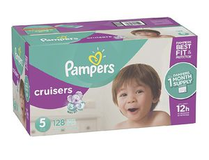 Pampers Cruisers size 5 and Baby Wipes for Sale in Santa Clara, CA
