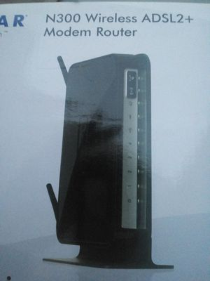 Dsl modem with wifi router - netgear for Sale in Los Angeles, CA