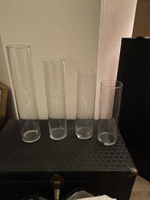 "Cylinder floating candle vases (13"", 15"", 17"" and 20"") for Sale in Rockville, MD"