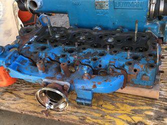 Perkins 4.154 Head (w/ Rocker Arms, Valves, Springs & Cover), Marine Exhaust & Intake Manifolds Heat Exchange, Oil Cooler, Lucas Starter Motor for Sale in San Diego,  CA