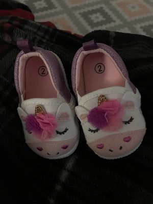 Baby girl shoes size two for Sale in Tustin, CA