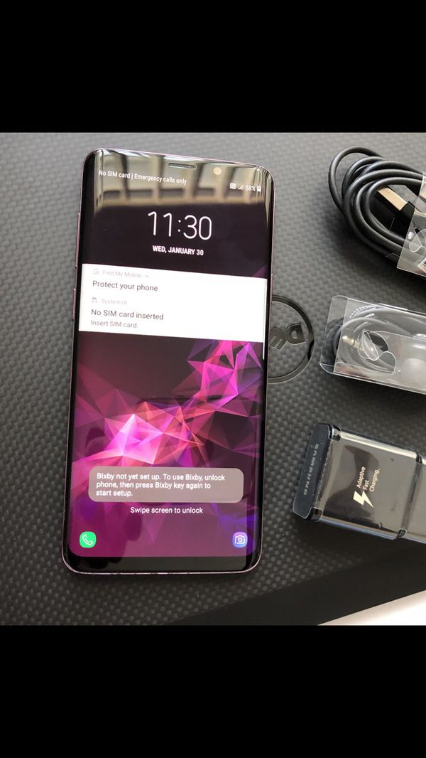 Samsung Galaxy S9 plus (S9+) - Excellent Condition, Factory Unlocked, clean IMEI
