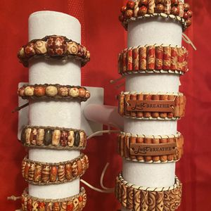 Handmade Bead and leather bracelets for Sale in Mesa, AZ