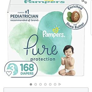 Diapers Size 3, 168 Count - Pampers Pure Protection Disposable Baby Diapers, Hypoallergenic and Unscented Protection, ONE Month Supply for Sale in Clovis, CA
