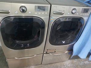 LG washer steam dryer steam gas nice set for Sale in Houston, TX