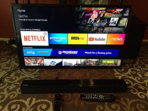 Samsung Tv 40 inch.Sound-bar and Fire Stick for Sale in Fort Worth, TX
