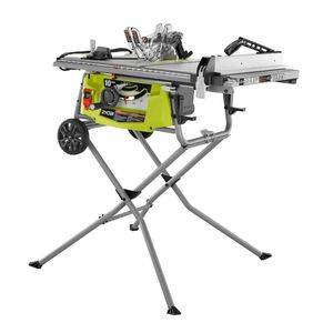 RYOBI 15 Amp 10 in. Expanded Capacity Table Saw With Rolling Stand for Sale in Villa Rica, GA