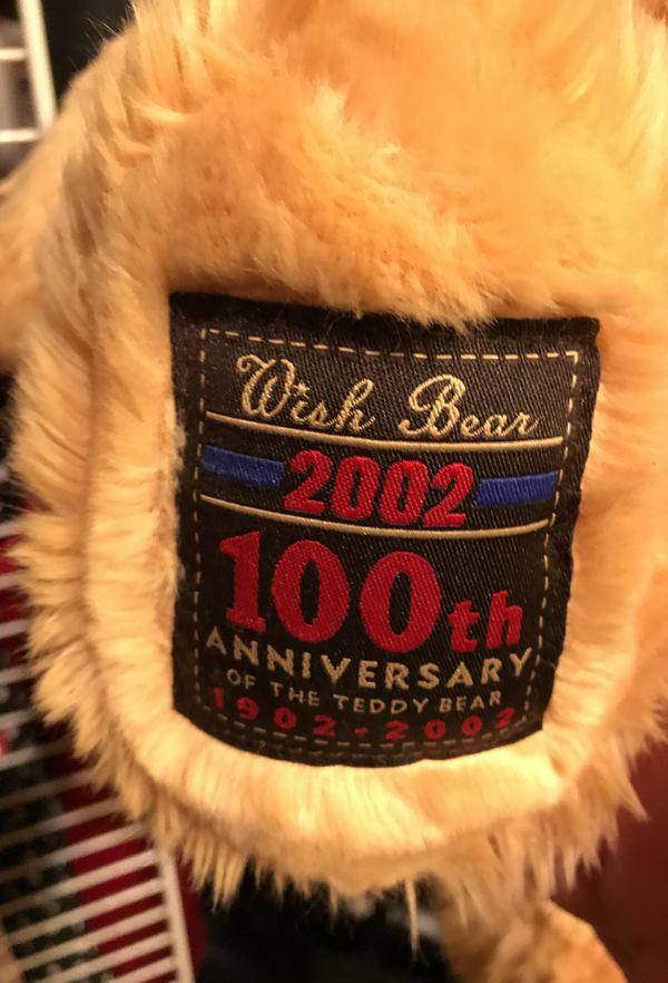 """Gund Wish Bear 100th Anniversary 26"""" 1902-2002"""